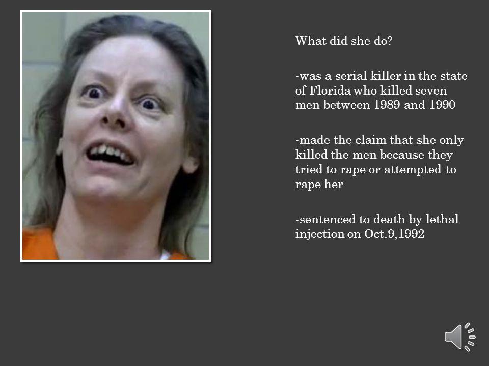 Serial killer AILEEN WUORNOS