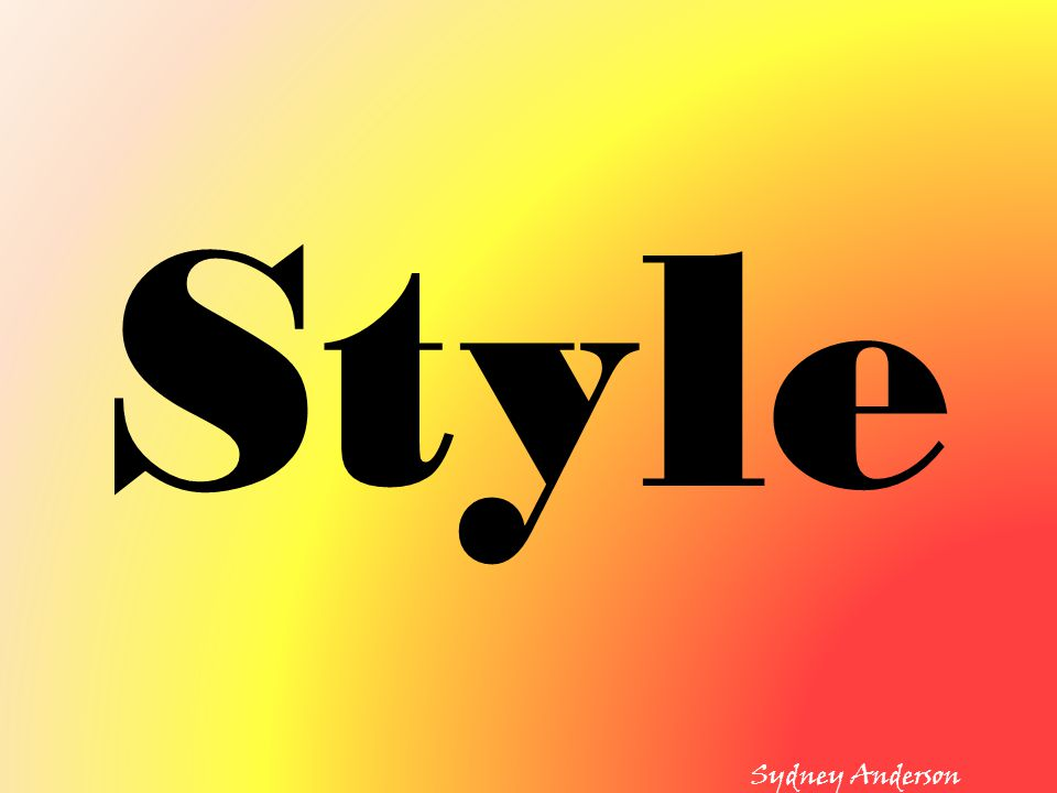 Style Sydney Anderson