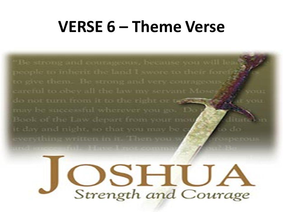 VERSE 6 – Theme Verse