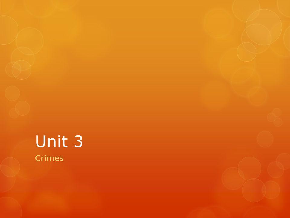 Unit 3 Crimes