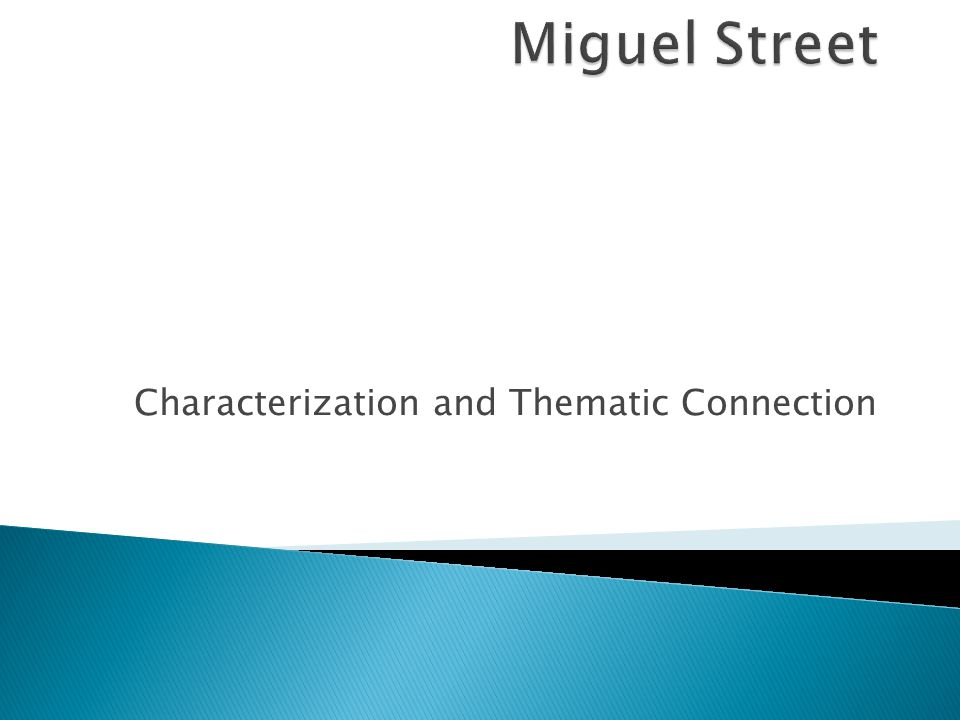 Characterization and Thematic Connection