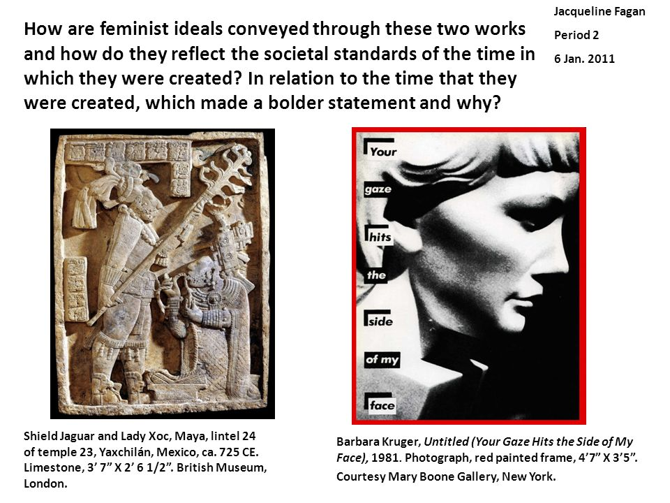 How are feminist ideals conveyed through these two works and how do they reflect the societal standards of the time in which they were created? In rel