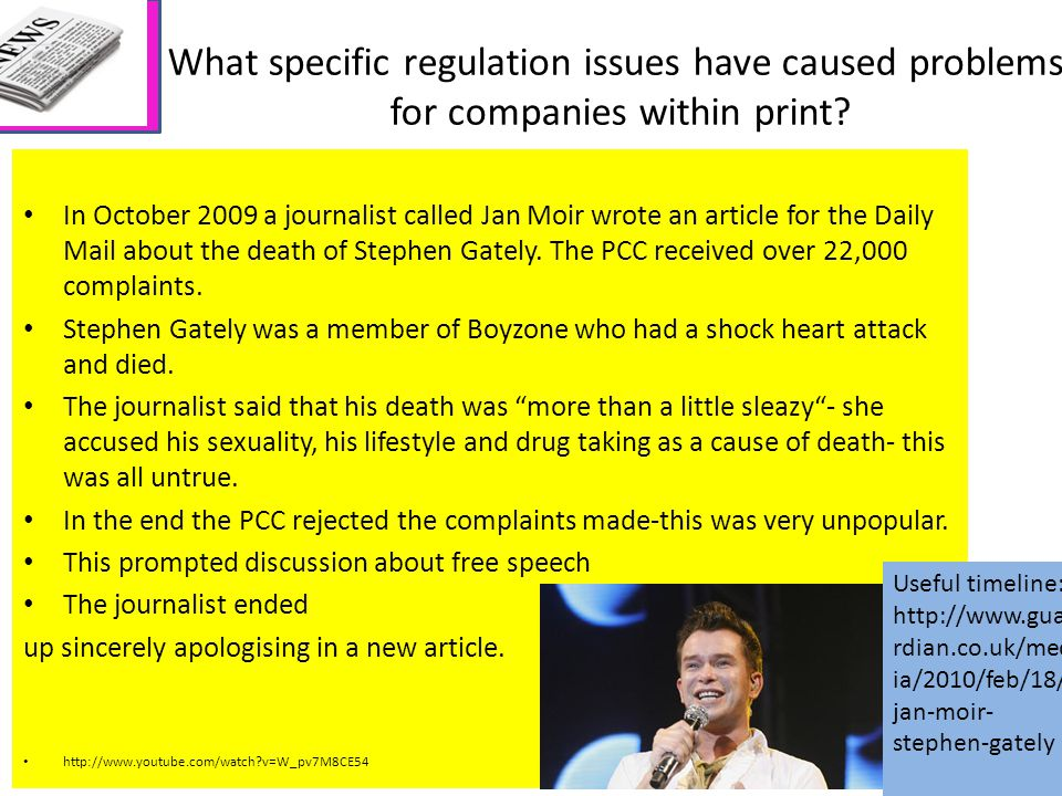 What specific regulation issues have caused problems for companies within print.