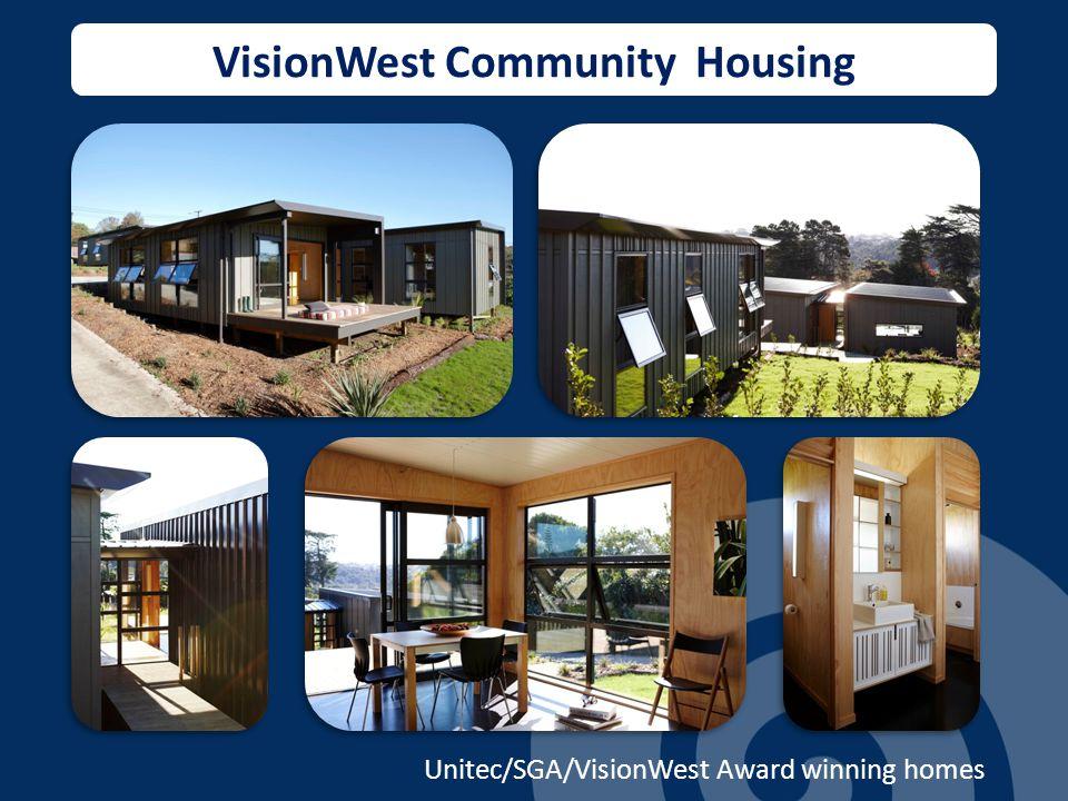 VisionWest Community Housing Unitec/SGA/VisionWest Award winning homes