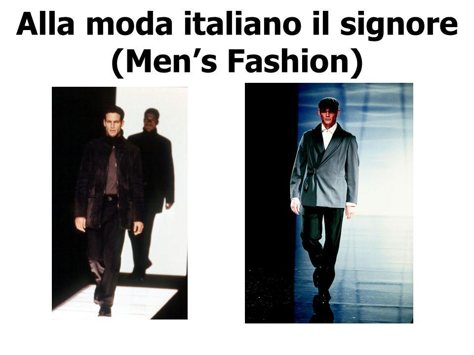 Alla moda italiano il signore (Men's Fashion)