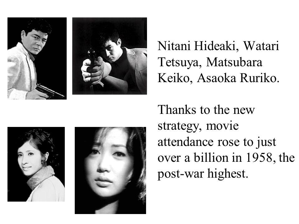 Nitani Hideaki, Watari Tetsuya, Matsubara Keiko, Asaoka Ruriko.