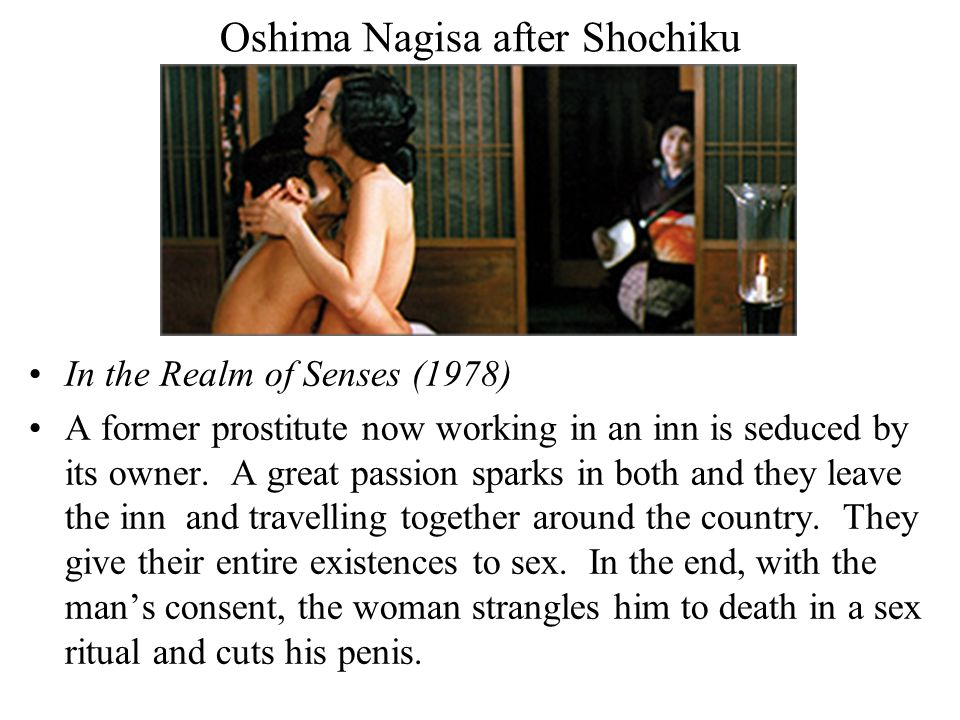 Oshima Nagisa after Shochiku In the Realm of Senses (1978) A former prostitute now working in an inn is seduced by its owner.