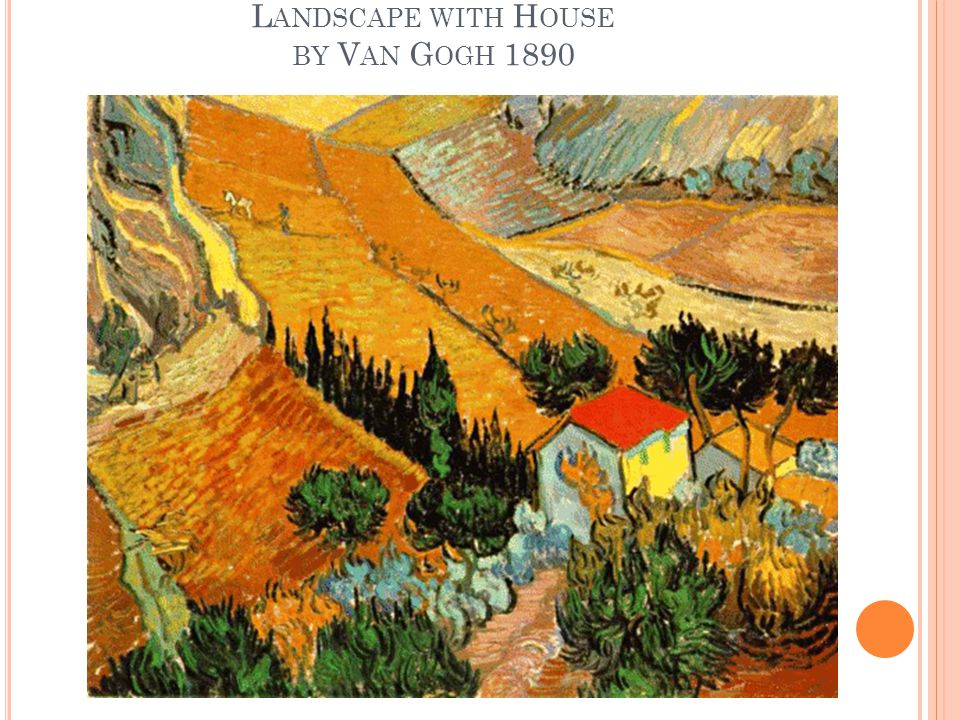 L ANDSCAPE WITH H OUSE BY V AN G OGH 1890