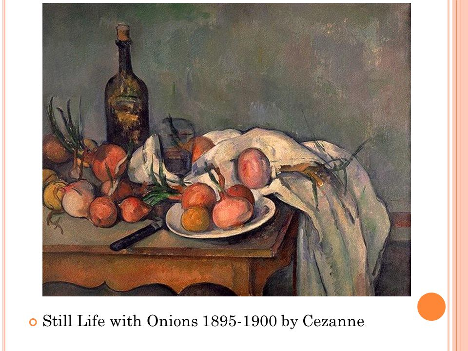 Still Life with Onions 1895-1900 by Cezanne