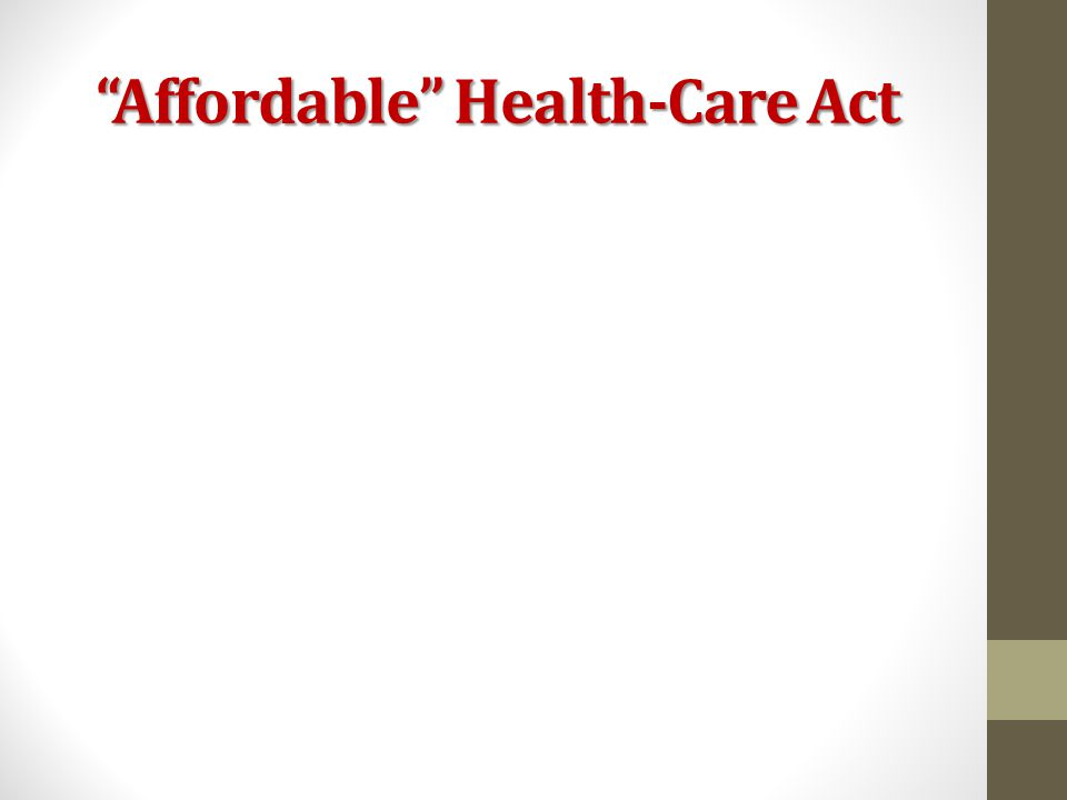 Affordable Health-Care Act