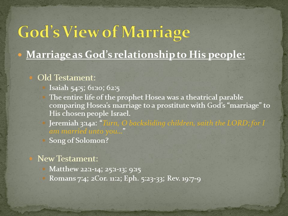 What can Marriage teach us about Joseph.