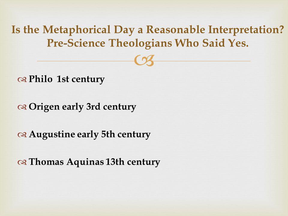  Is the Metaphorical Day a Reasonable Interpretation.