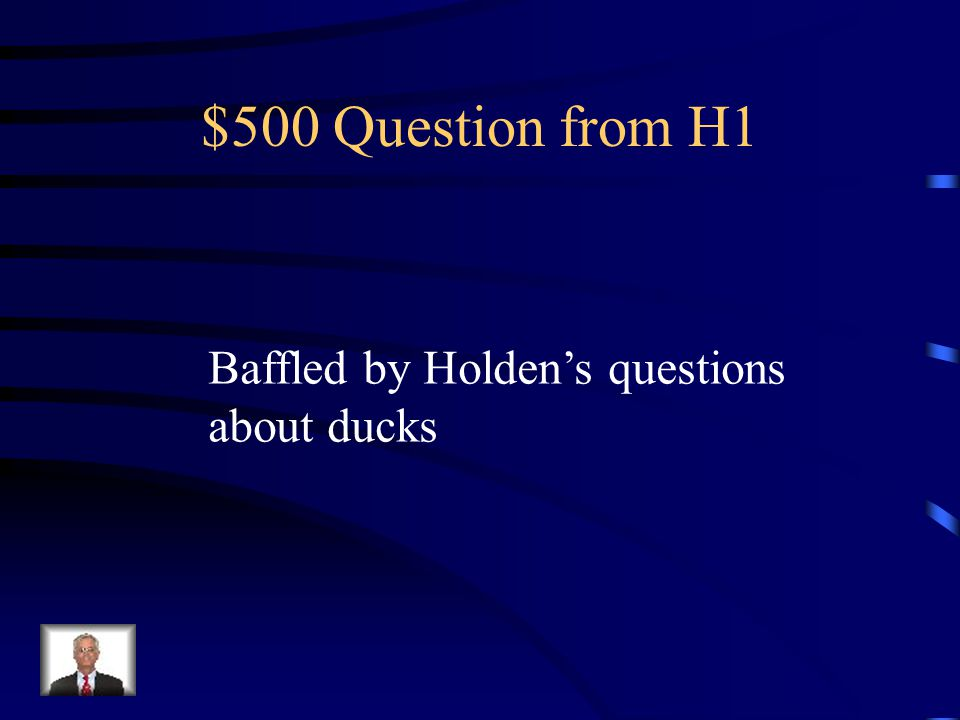 $400 Answer from H1 Jane Gallagher