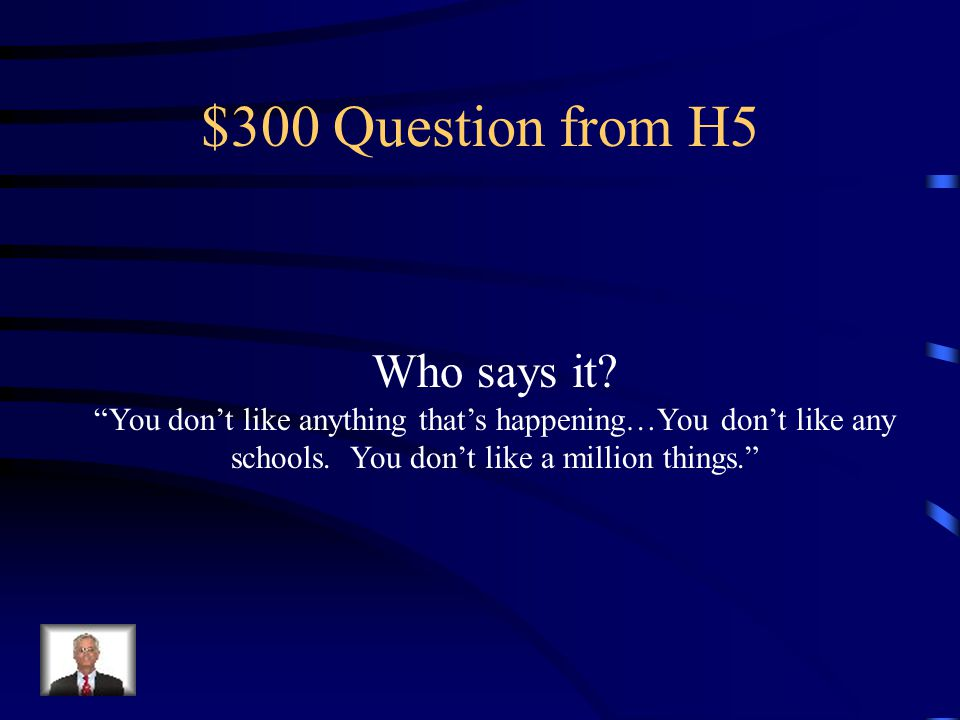 $200 Answer from H5 Mr. Antolini