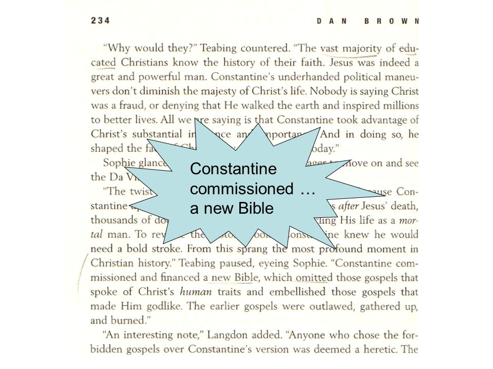 Constantine commissioned … a new Bible