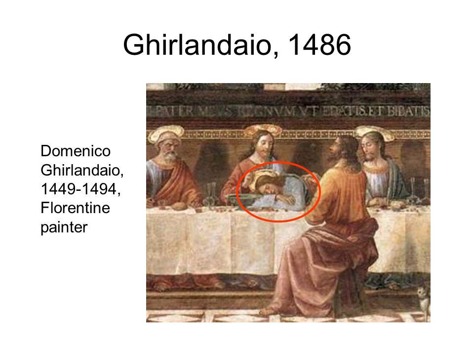 Ghirlandaio, 1486 Domenico Ghirlandaio, 1449-1494, Florentine painter