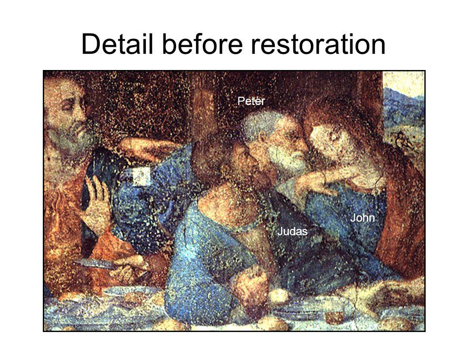 Detail before restoration Peter John Judas