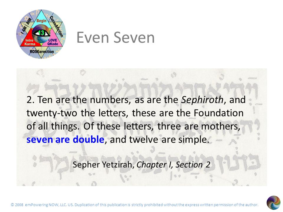 The Seven 22 Saphire as reminded by rabbi goofey Means light