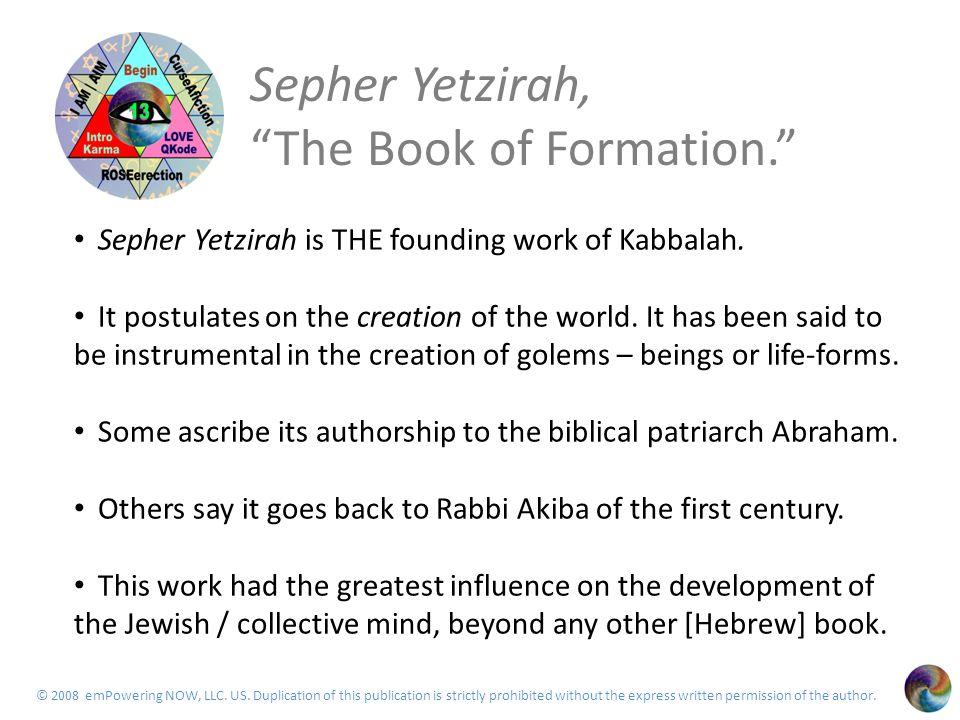 Agenda 2 History / background from Sepher Yetzirah.