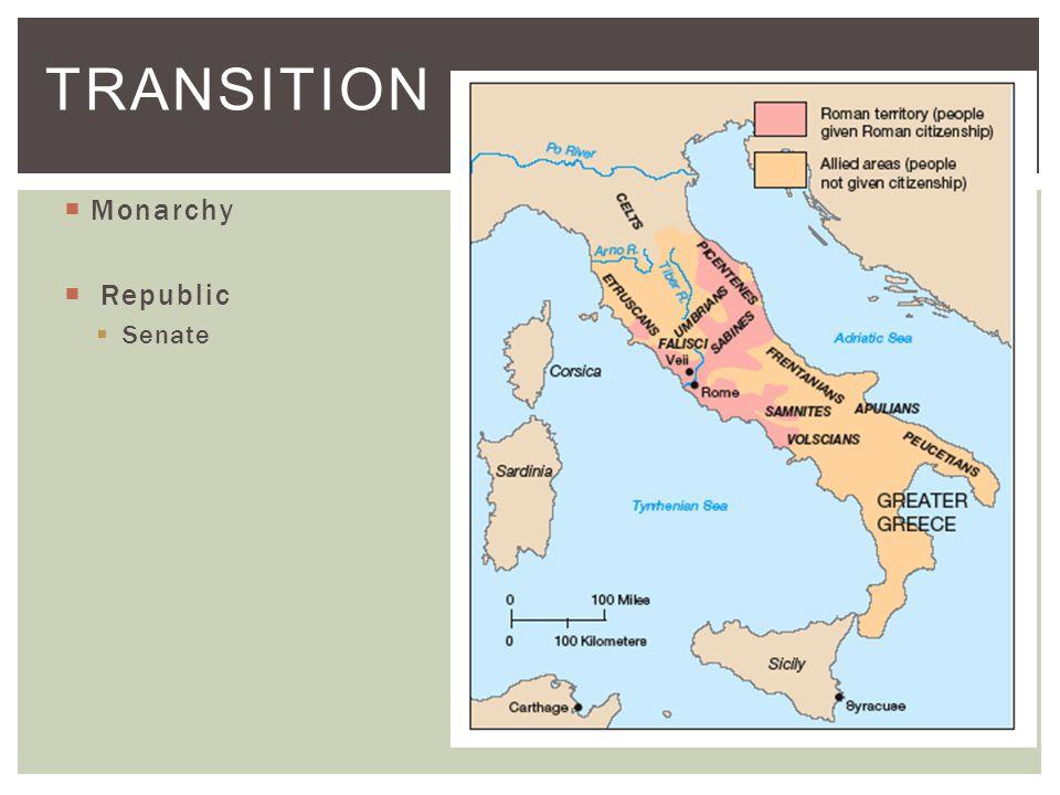  Monarchy  Republic  Senate TRANSITION