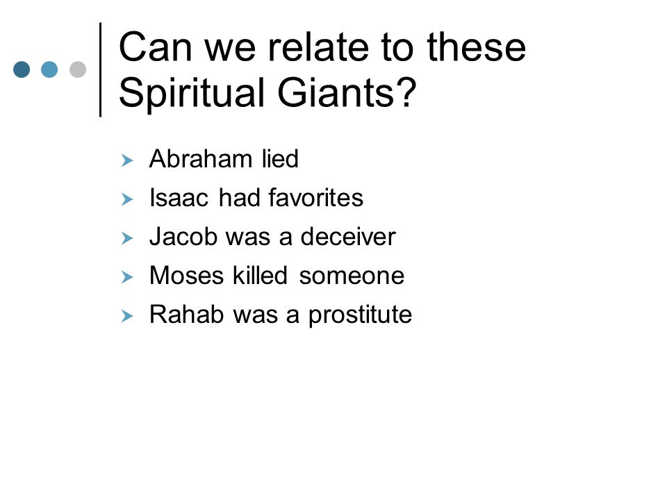 Can we relate to these Spiritual Giants.
