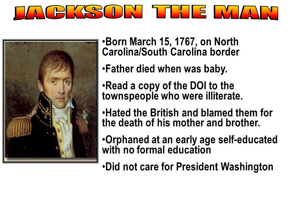 Born March 15, 1767, on North Carolina/South Carolina border Father died when was baby. Read a copy of the DOI to the townspeople who were illiterate.