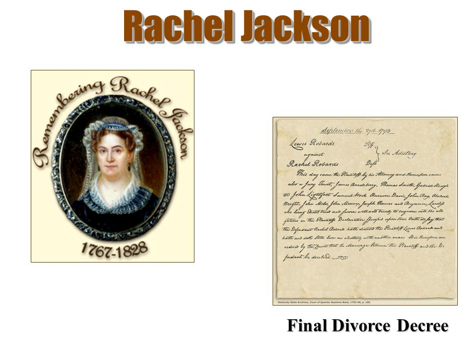 Rachel Jackson Final Divorce Decree