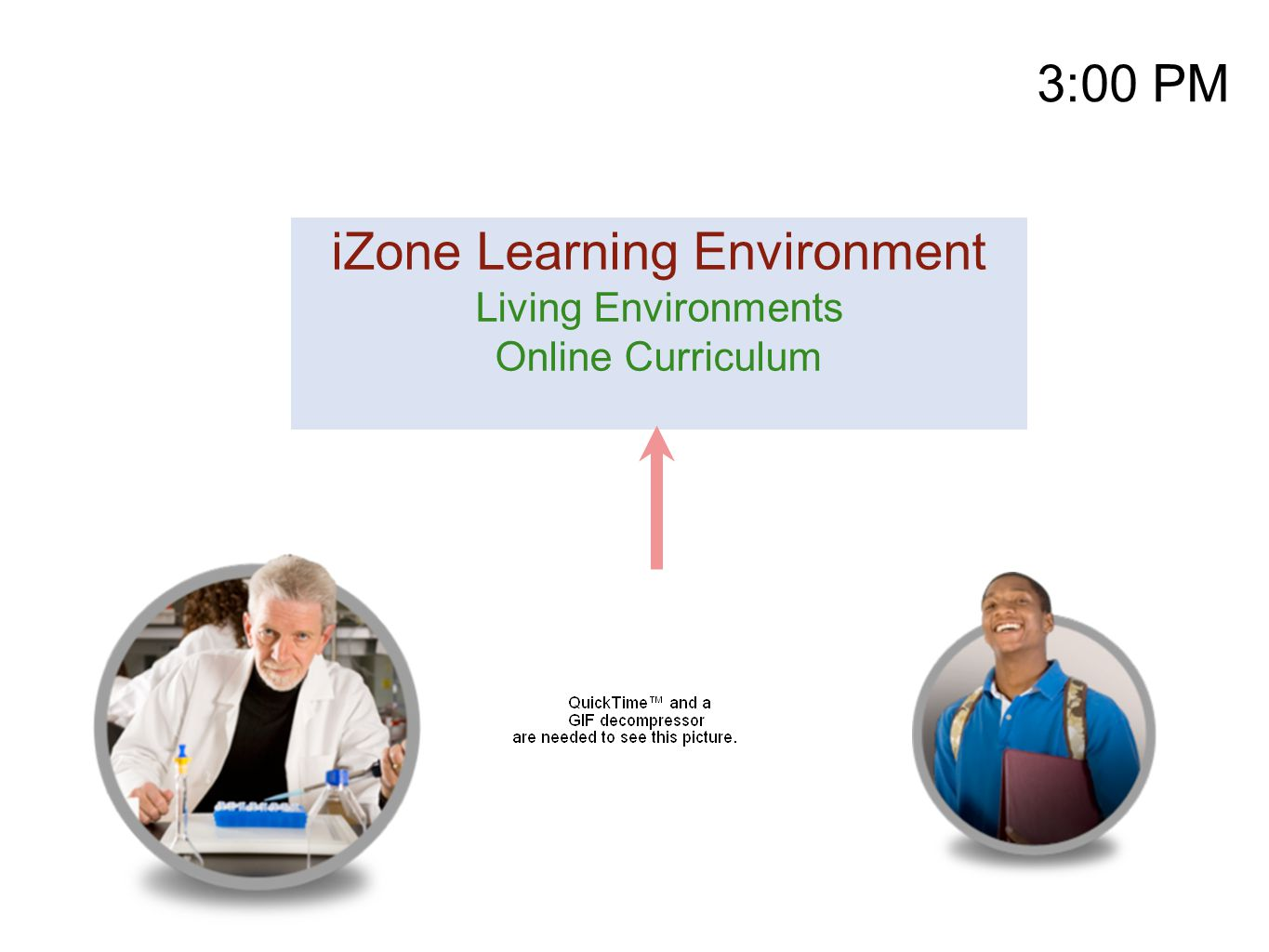 3:00 PM iZone Learning Environment Living Environments Online Curriculum