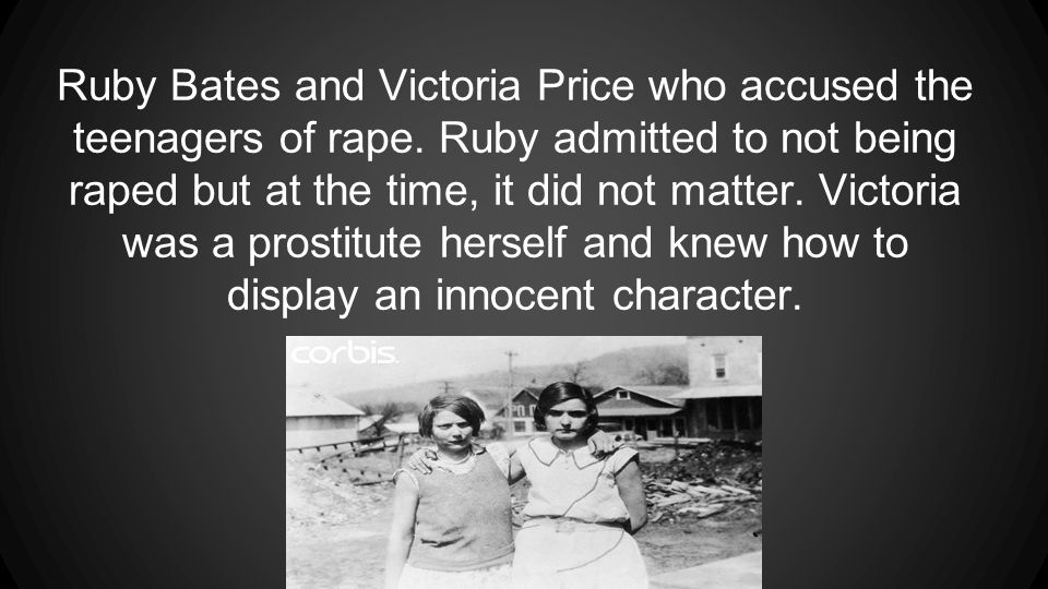 Ruby Bates and Victoria Price who accused the teenagers of rape.