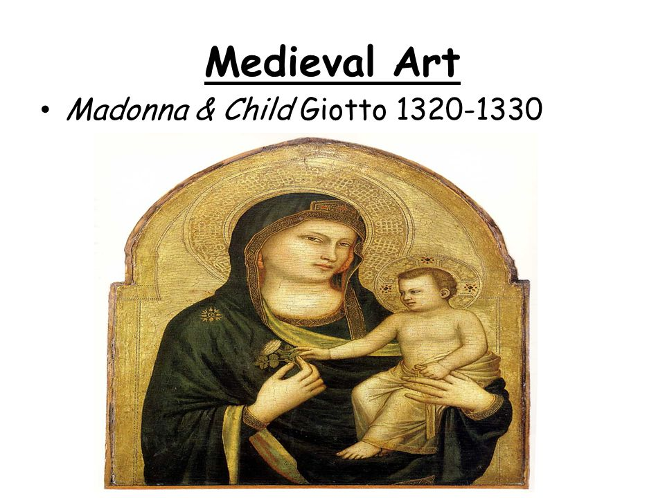 Medieval Art Madonna & Child Giotto 1320-1330