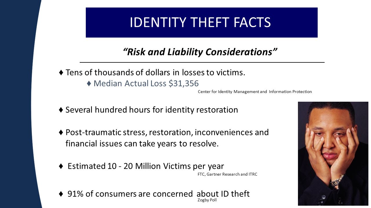 Risk and Liability Considerations 5 ♦ Tens of thousands of dollars in losses to victims.