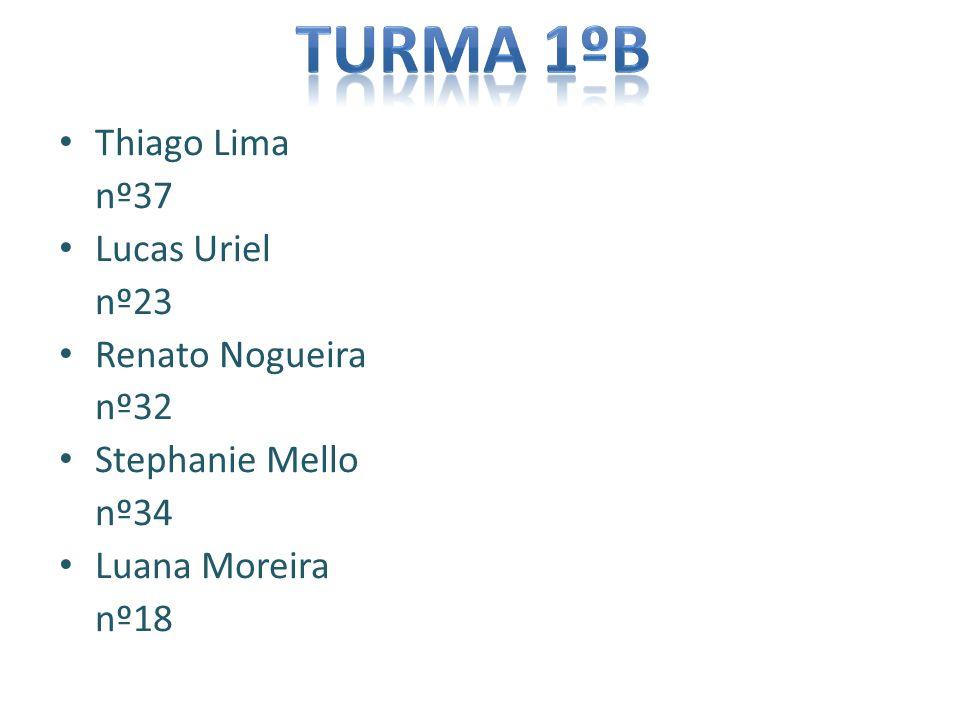 Thiago Lima nº37 Lucas Uriel nº23 Renato Nogueira nº32 Stephanie Mello nº34 Luana Moreira nº18