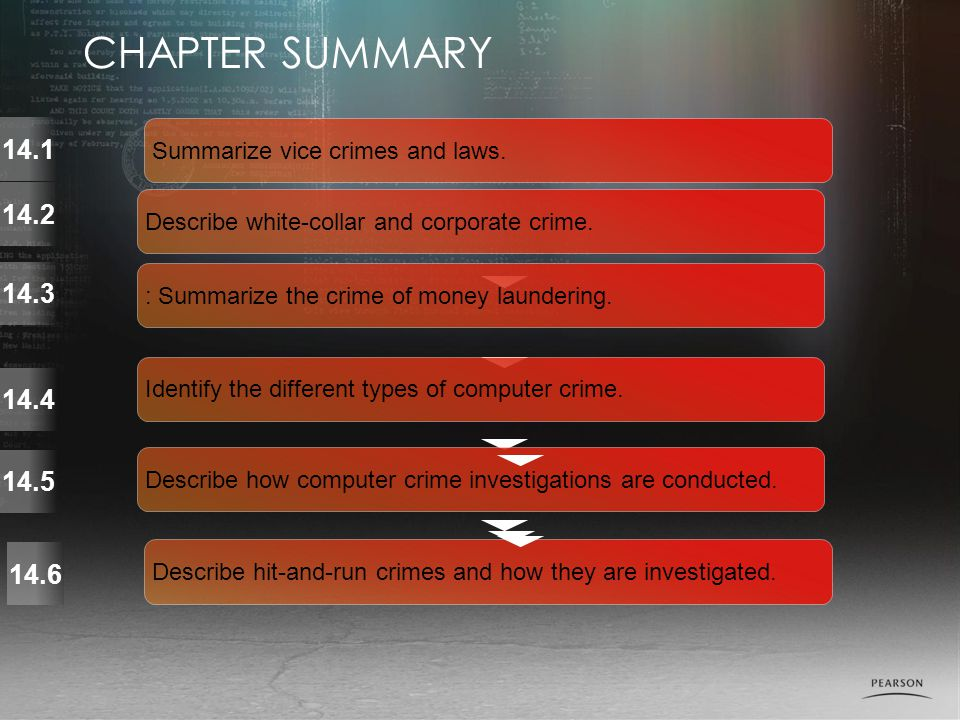 Summarize vice crimes and laws.