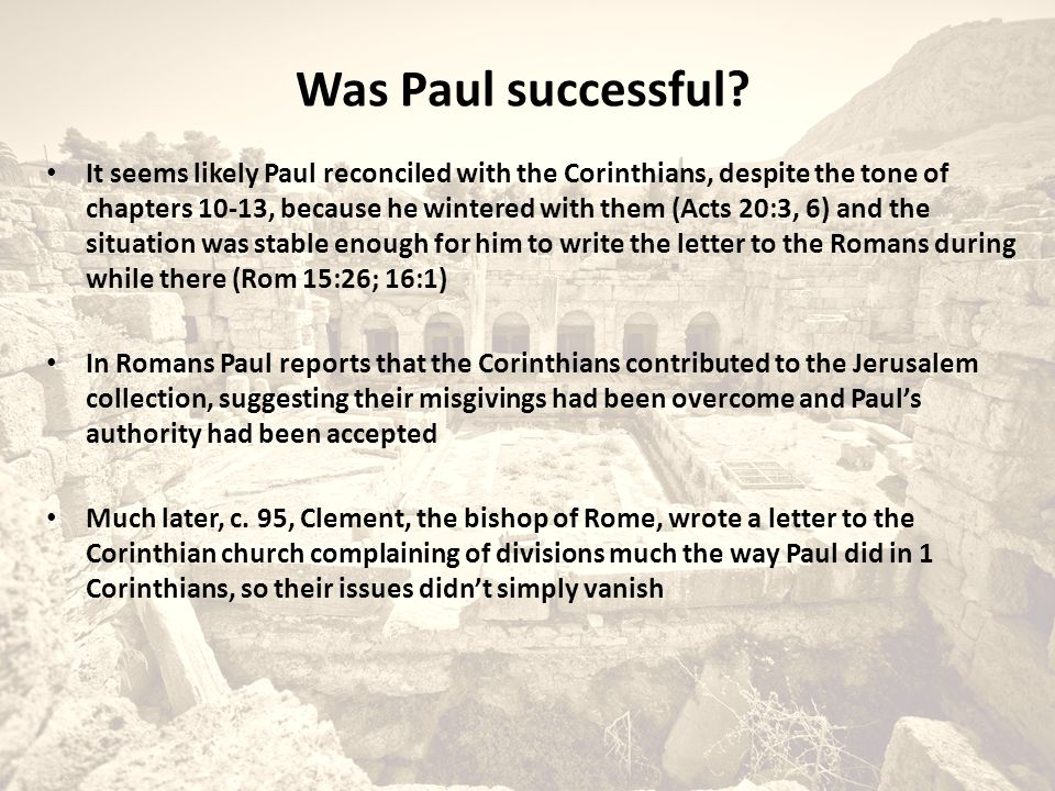 Was Paul successful.