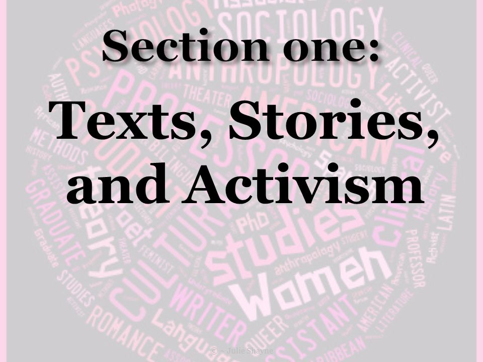 Texts, Stories, and Activism © ~ Julie Shayne