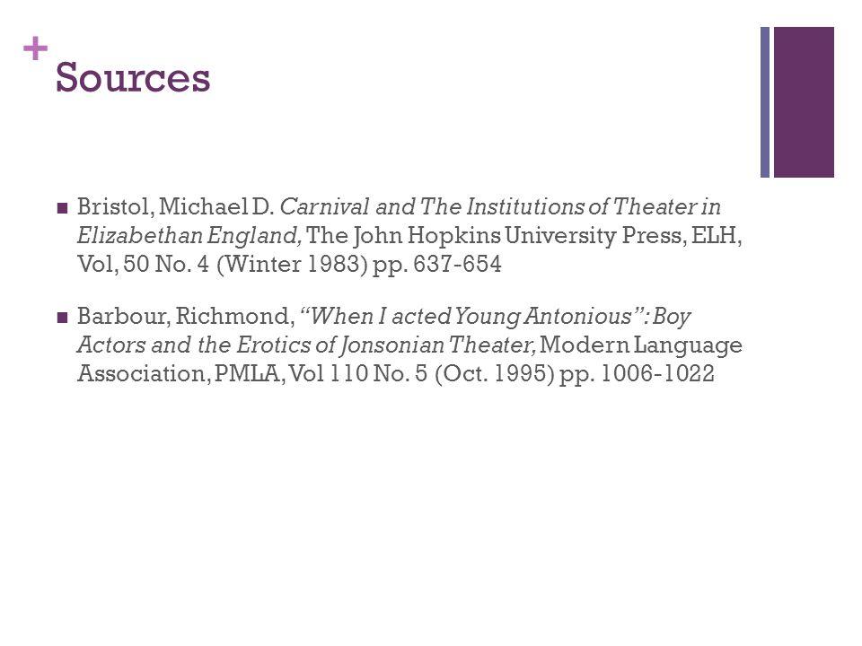 + Sources Bristol, Michael D.