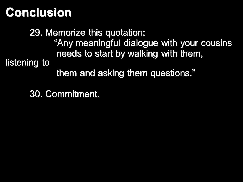 Conclusion 29.