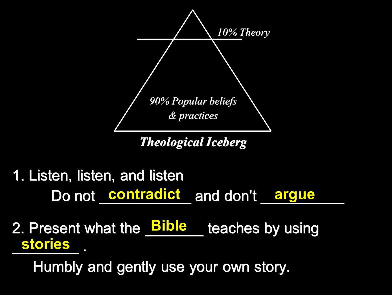 1. Listen, listen, and listen Do not ___________ and don't __________ 2.