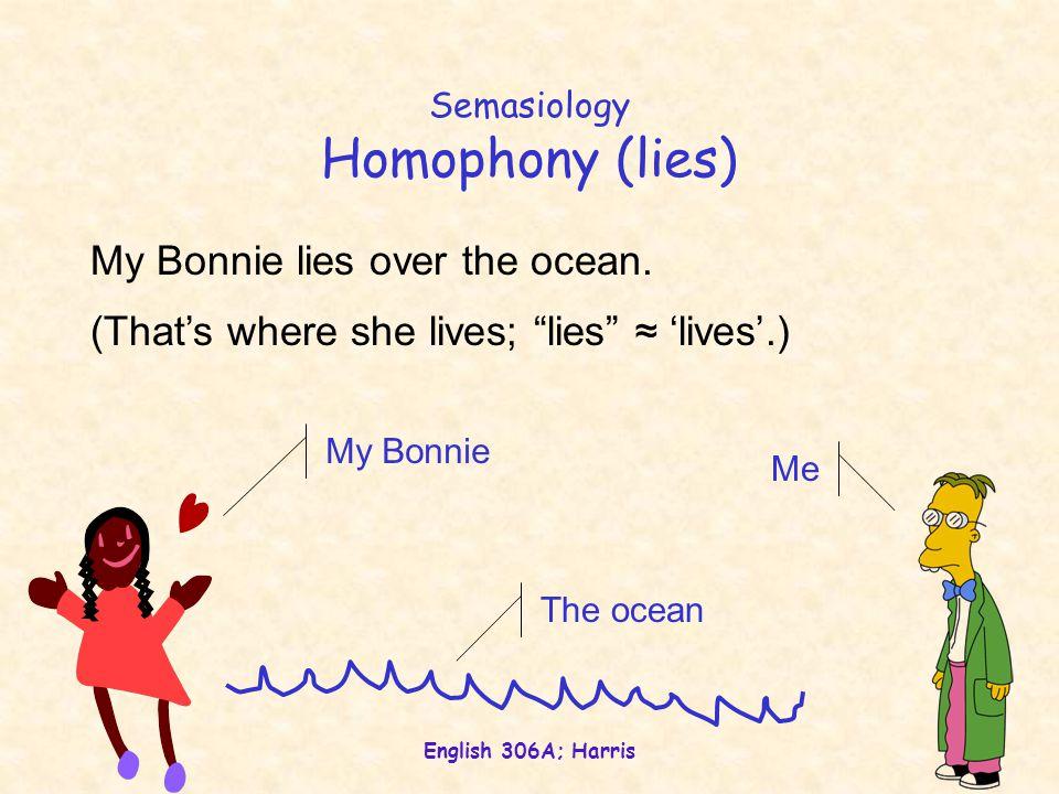 English 306A; Harris Onomasiology Antonymy black/white, up/down, boy/girl, stop/go, cat/dog, student/professor,...