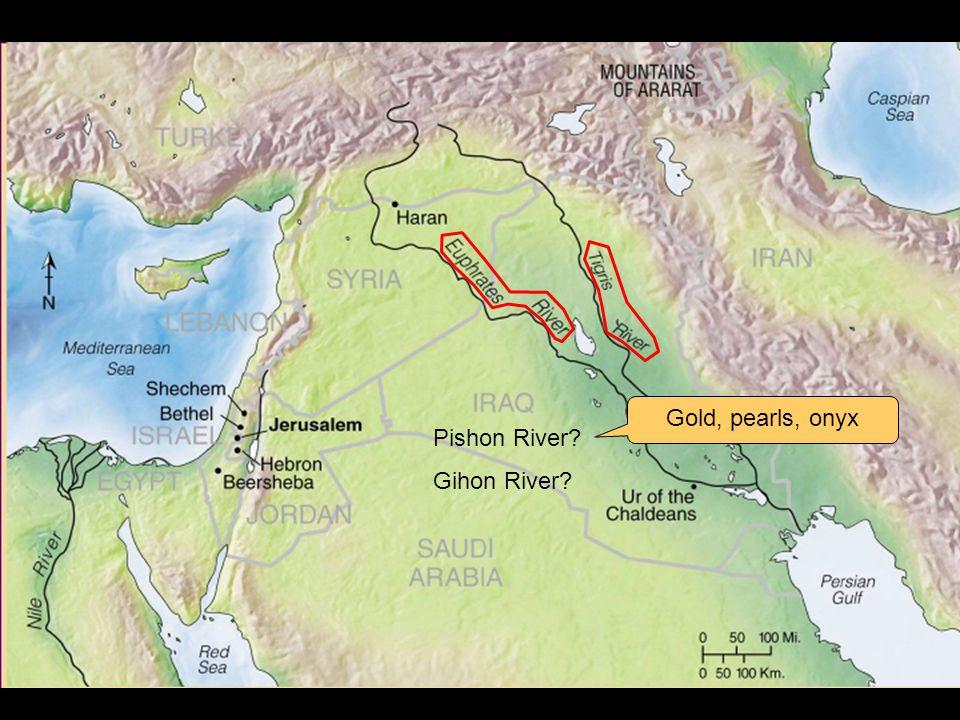 Pishon River Gihon River Gold, pearls, onyx