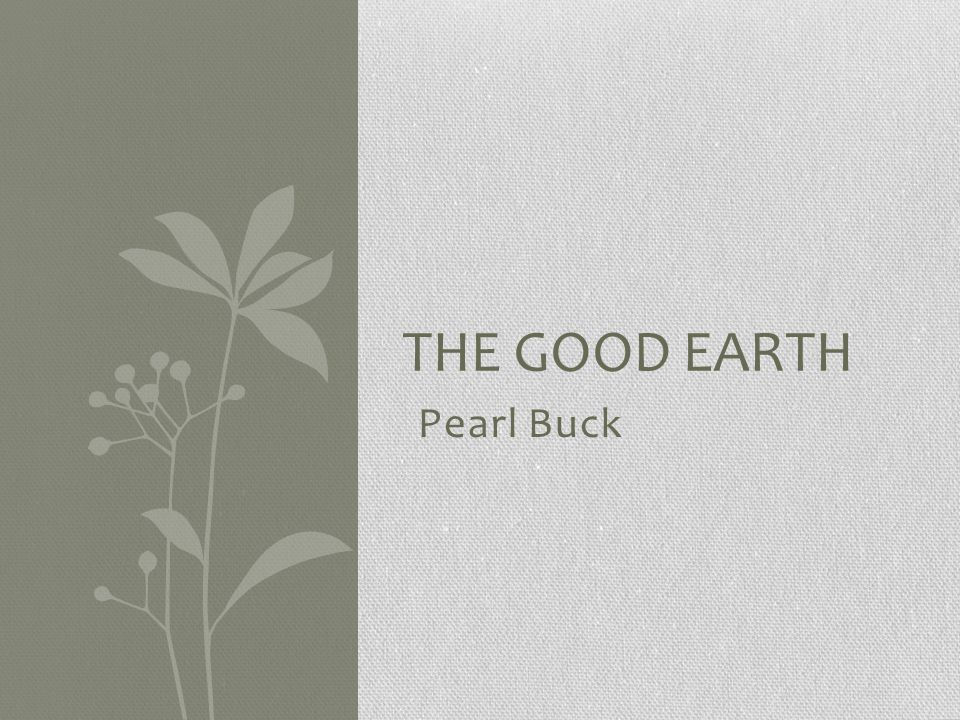 Pearl Buck Born in 1892 Grew up in China and lived there for many years Wrote dozens of novels and stories Published The Good Earth in 1931 Won a Nobel Prize Started an adoption agency for Asian children