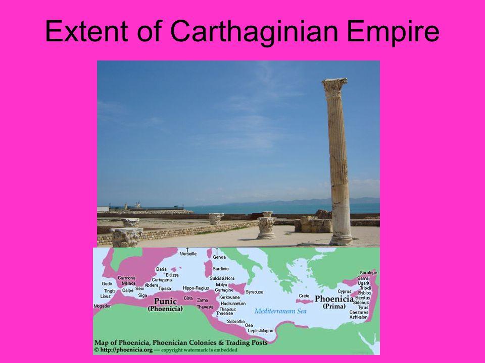 Extent of Carthaginian Empire