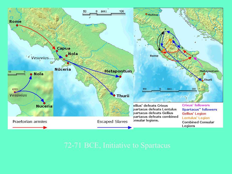 72-71 BCE, Initiative to Spartacus