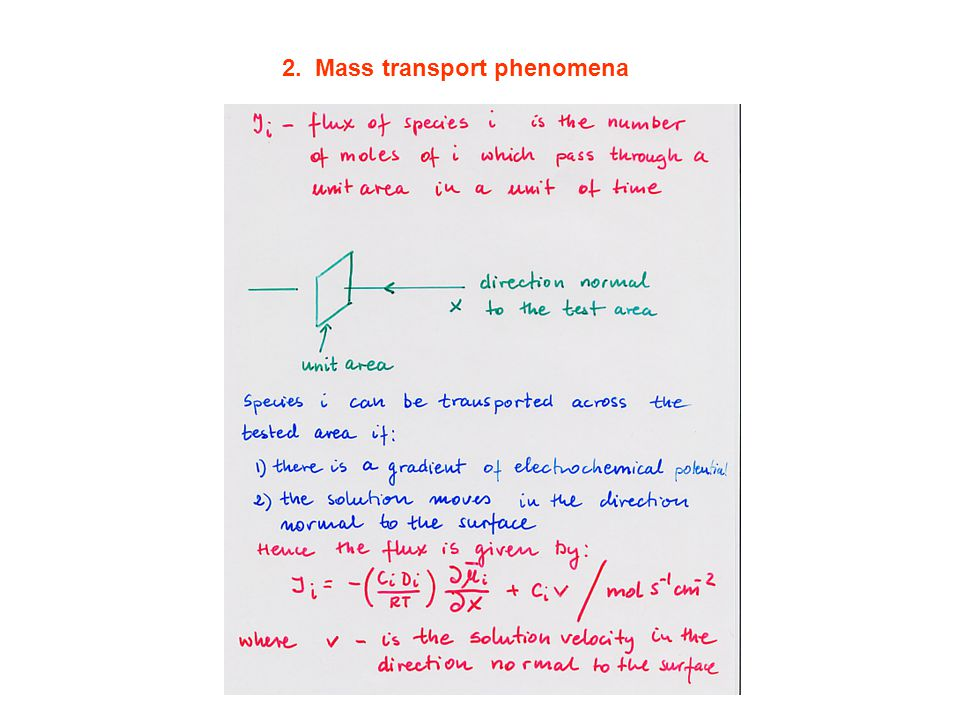 2. Mass transport phenomena