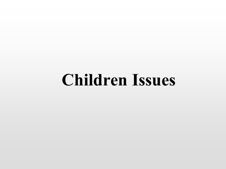 Children Issues