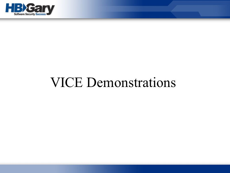 VICE Demonstrations