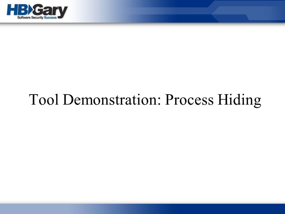 Tool Demonstration: Process Hiding