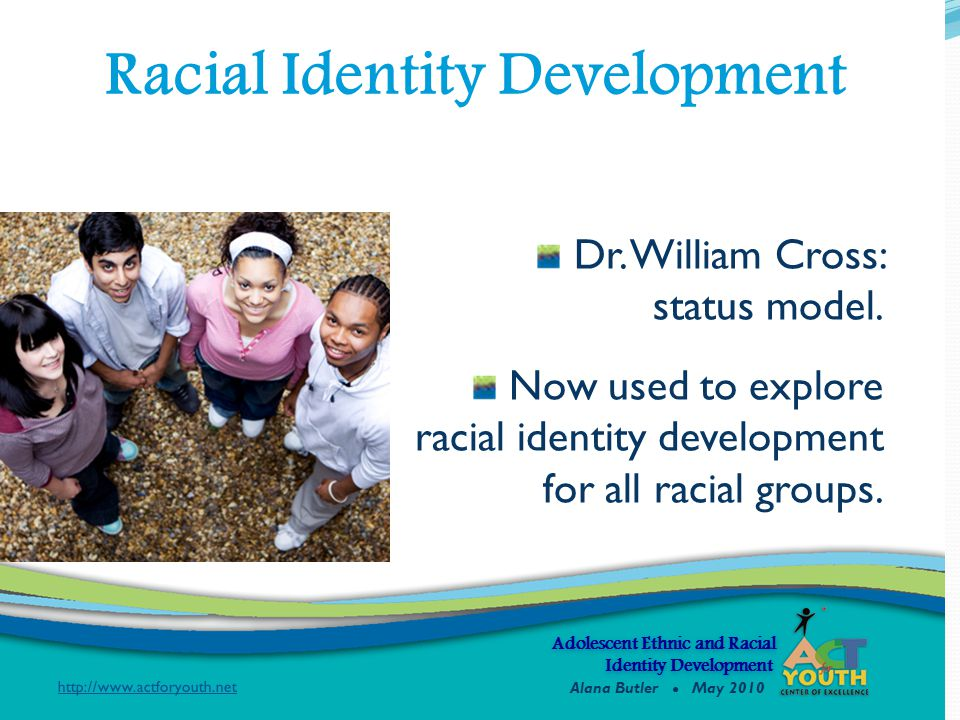 Adolescent Ethnic and Racial Identity Development Identity Development Dr.