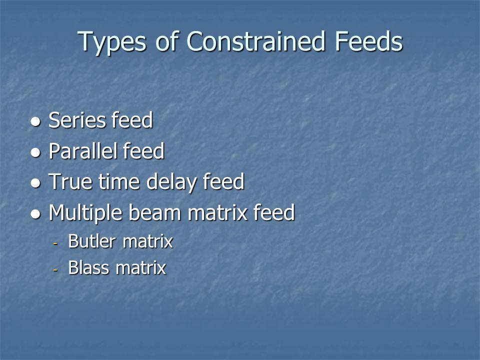 Series Feed