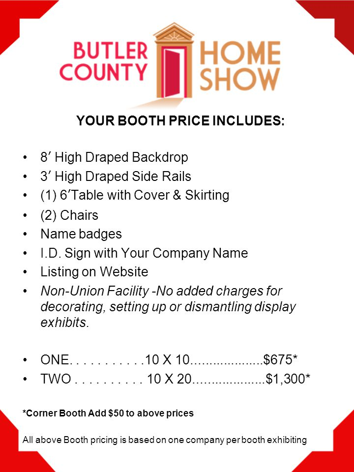 Where else can you speak with qualified homeowners in three days under one roof while showcasing a wide selection of your latest products and services.